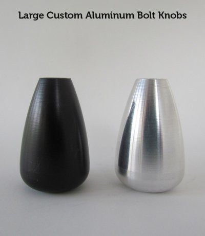 Large Custom Aluminum Bolt Knobs